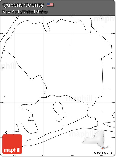 Free Blank Simple Map of Queens County, no labels on