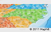 Political Shades 3D Map of North Carolina