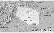 Gray 3D Map of Caldwell County