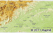 Physical 3D Map of Caldwell County