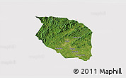 Satellite 3D Map of Caldwell County, cropped outside