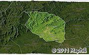 Satellite 3D Map of Caldwell County, darken