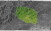 Satellite 3D Map of Caldwell County, desaturated