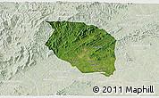 Satellite 3D Map of Caldwell County, lighten