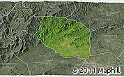 Satellite 3D Map of Caldwell County, semi-desaturated