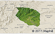 Satellite 3D Map of Caldwell County, shaded relief outside