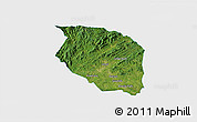 Satellite 3D Map of Caldwell County, single color outside