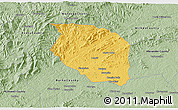 Savanna Style 3D Map of Caldwell County