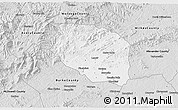 Silver Style 3D Map of Caldwell County