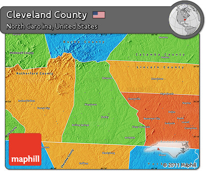 Free Political Map of Cleveland County