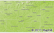 Physical 3D Map of Forsyth County