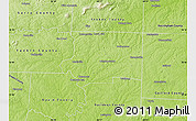 Physical Map of Forsyth County
