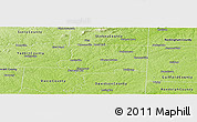 Physical Panoramic Map of Forsyth County