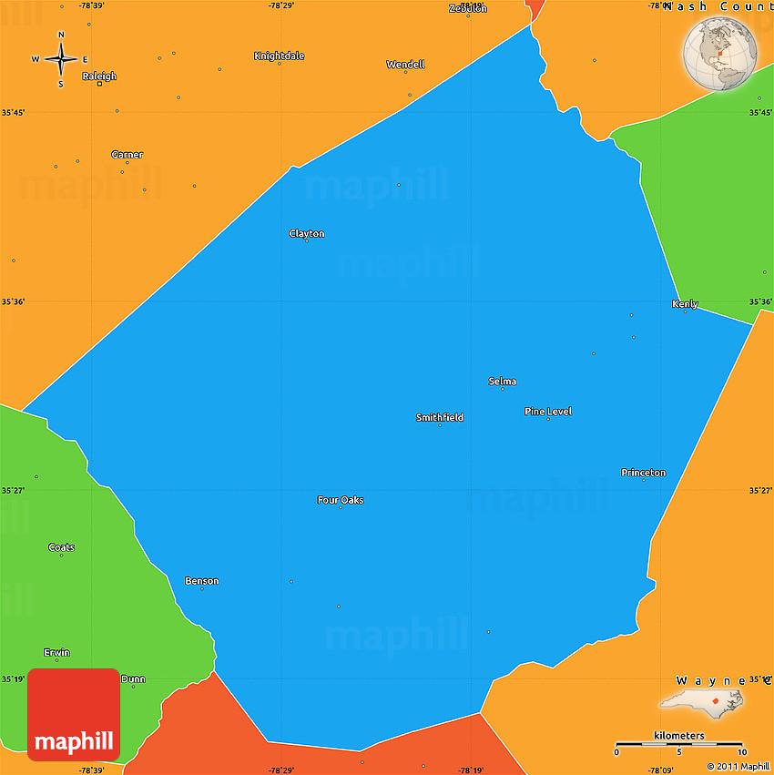 johnston county Mapclick4 - johnston county, north carolina.