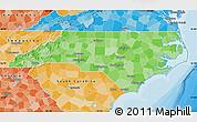 Political Shades Map of North Carolina