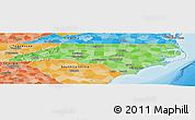 Political Shades Panoramic Map of North Carolina