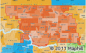 Political Shades Map of ZIP codes starting with 587