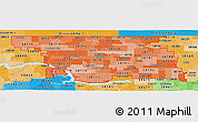 Political Shades Panoramic Map of ZIP codes starting with 587