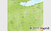 Physical 3D Map of Ohio