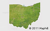 Satellite 3D Map of Ohio, cropped outside