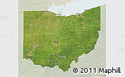 Satellite 3D Map of Ohio, lighten