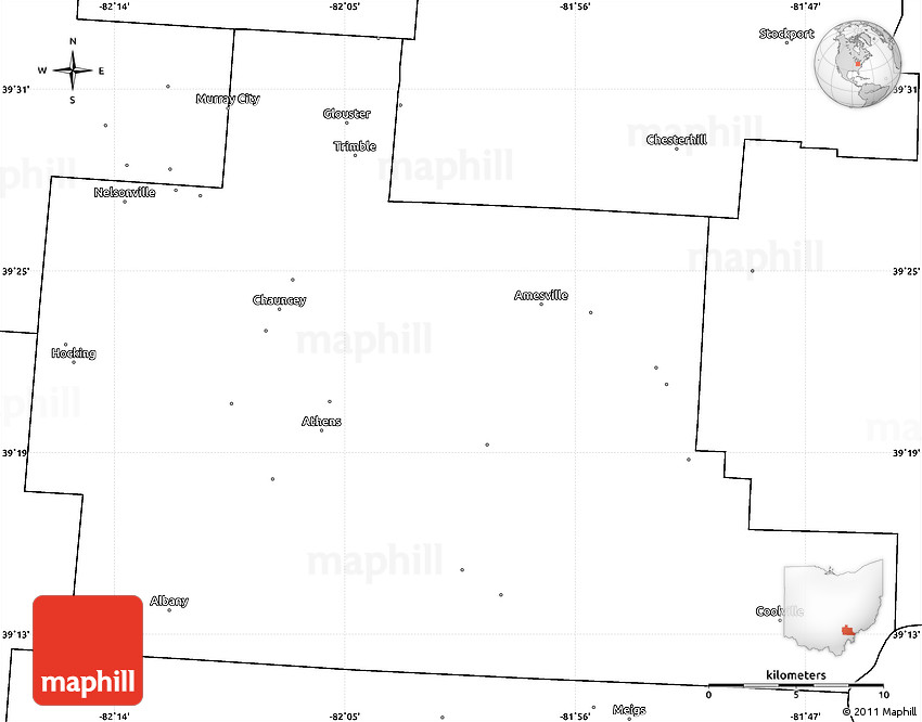 Blank Simple Map of Athens County on blank map ohio, physical map of athens, blank map pa, blank map rome, blank map greece, blank map georgia,