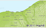 Physical 3D Map of Cuyahoga County