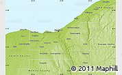 Physical Map of Cuyahoga County
