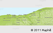Physical Panoramic Map of Cuyahoga County