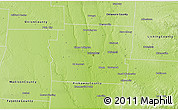 Physical 3D Map of Franklin County