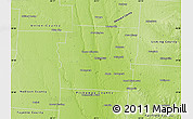 Physical Map of Franklin County