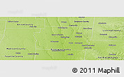 Physical Panoramic Map of Franklin County