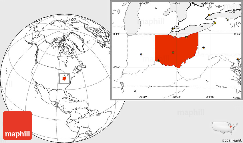 Blank Location Map Of Ohio