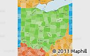 Political Shades Map of Ohio