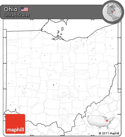 Free Blank Simple Map Of Ohio No Labels - Us map without labels