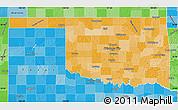 Political Shades Map of Oklahoma