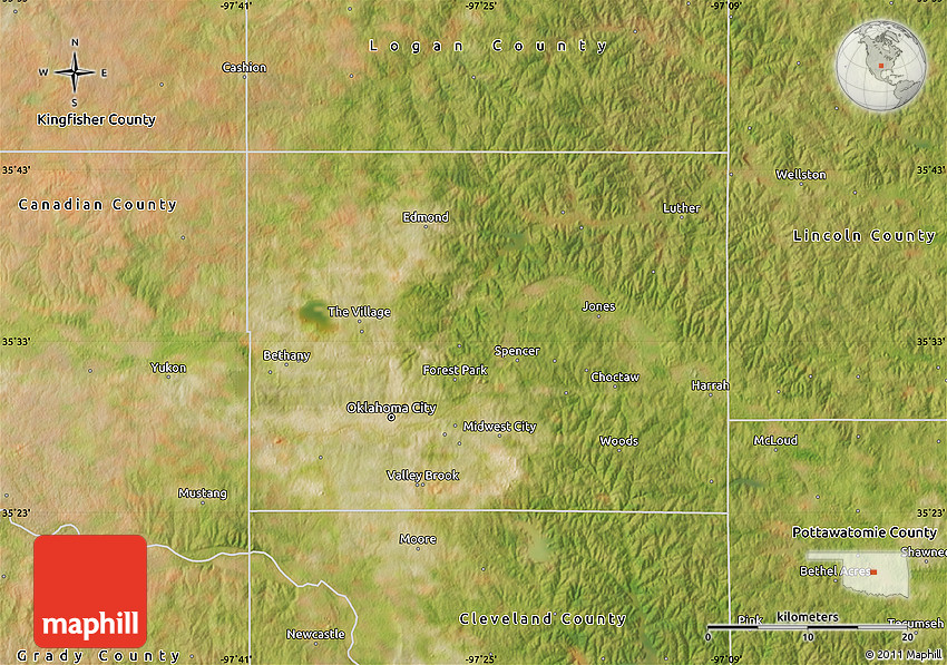 Satellite Map of Oklahoma County on a map of oklahoma, weather of oklahoma, world map of oklahoma, contour map of oklahoma, green map of oklahoma, detailed map of oklahoma, county map of oklahoma, physical map of oklahoma, aerial view of tulsa oklahoma, winds of oklahoma, aerial map of edmond oklahoma, seismic map of oklahoma, the map of oklahoma, hd map of oklahoma, topo map of oklahoma, elevation of oklahoma, street map of oklahoma, osage nation of oklahoma, pdf map of oklahoma, google maps oklahoma,