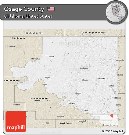 Free Classic Style 3d Map Of Osage County