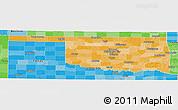 Political Shades Panoramic Map of Oklahoma
