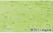 Physical 3D Map of Payne County