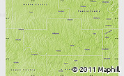 Physical Map of Payne County