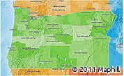 Political Shades 3D Map of Oregon