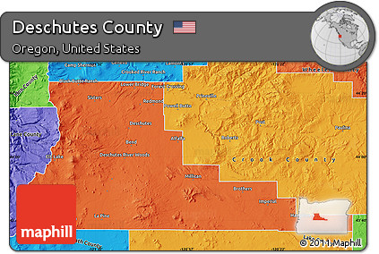 Oregon Political Map By County.Free Political Map Of Deschutes County
