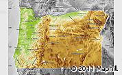 Physical Map Of Oregon - Physical map of oregon