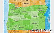 Political Shades Map of Oregon