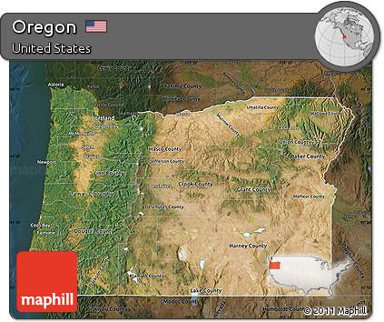 Free Oregon Map.Free Satellite Map Of Oregon Darken