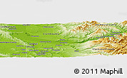 Physical Panoramic Map of Multnomah County