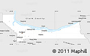 Silver Style Simple Map of Multnomah County