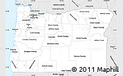 Silver Style Simple Map of Oregon