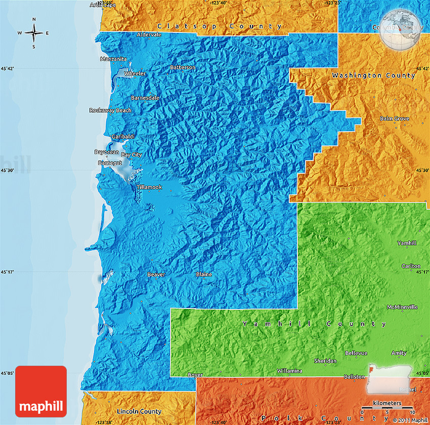 Political Map of Tillamook County on world map of oregon, large map of oregon, rail map of oregon, contour map of oregon, industrial map of oregon, structural map of oregon, physical map of oregon, detailed map of oregon, precipitation of oregon, drought map of oregon, state flag of oregon, capital of oregon, nature map of oregon, border of oregon, vegetation map of oregon, complete map of oregon, regional map of oregon, funny map of oregon, land use map of oregon, electoral map of oregon,